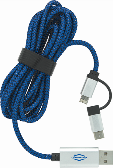 Picture of Dual Charging Cable with USB-C